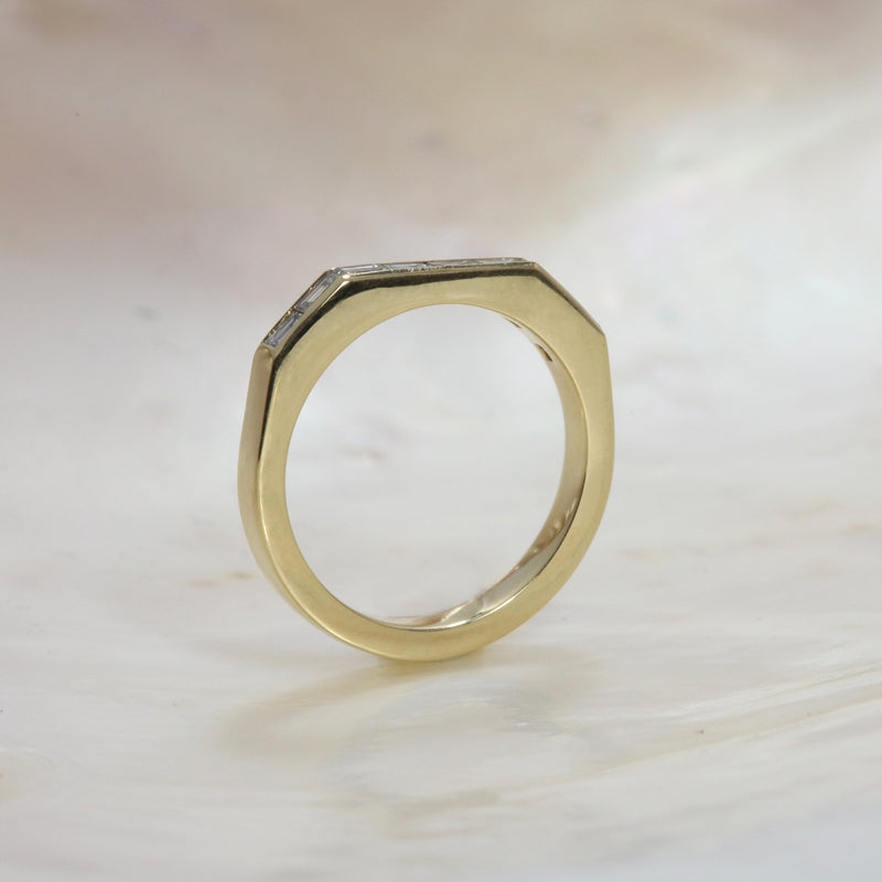 Baguette Deco Wedding Band