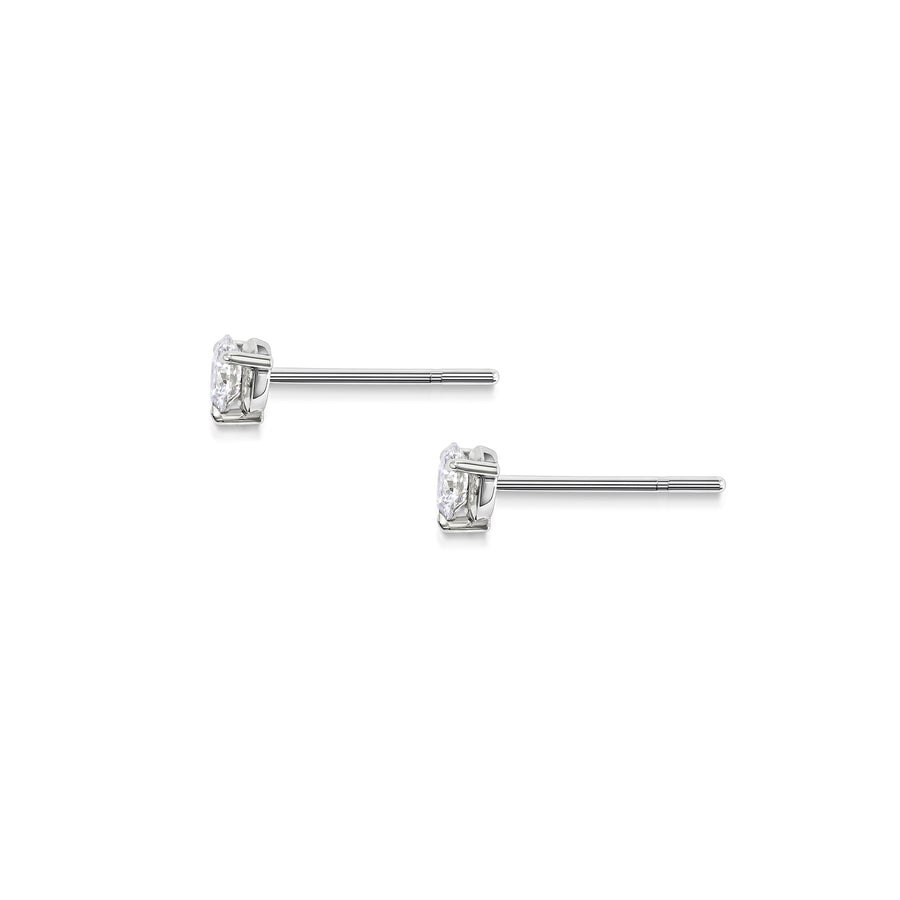 4mm Round Diamond Studs