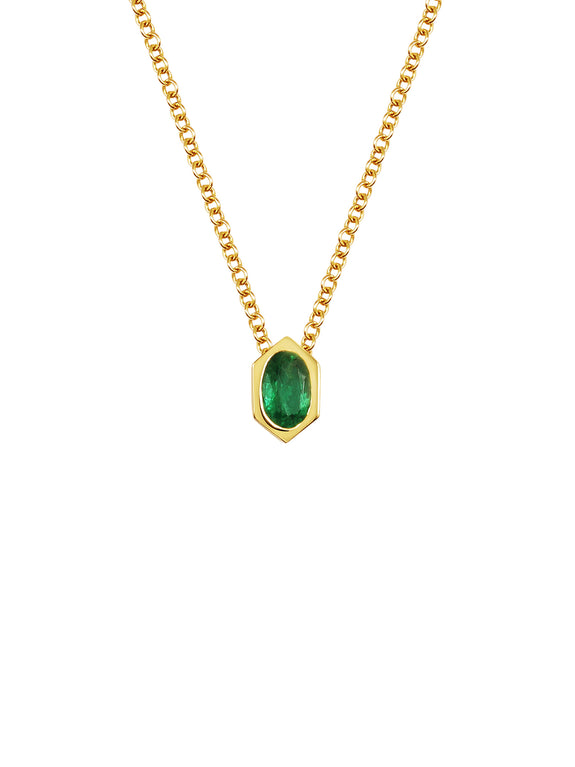Emerald Hexagon Necklace - Rachel Boston Jewellery