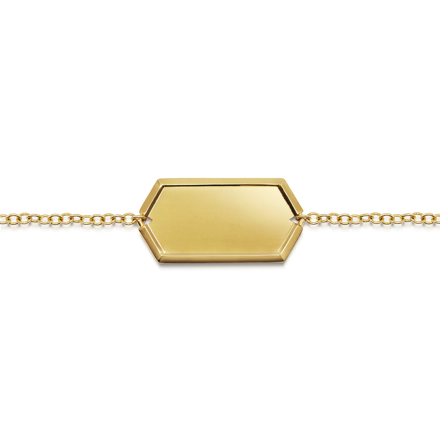 Hexagon Identity Bracelet