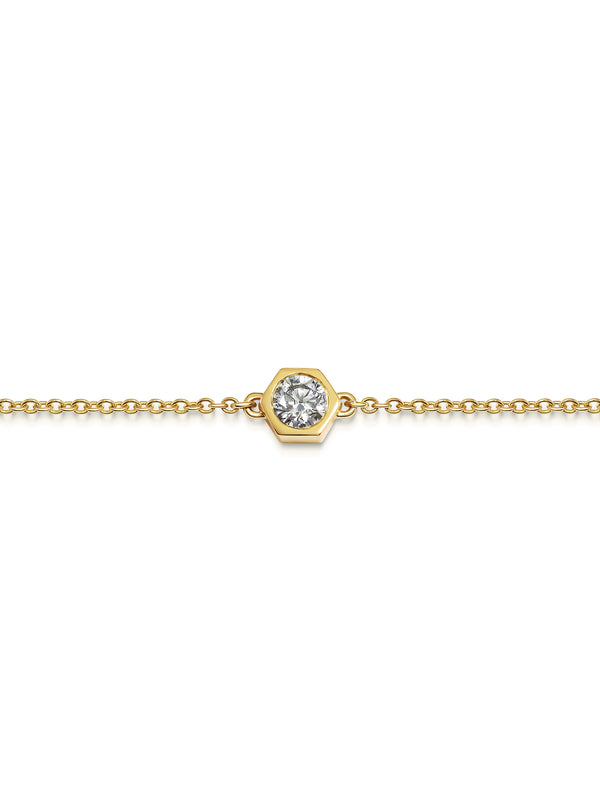 Diamond Hexagon Bracelet - Rachel Boston Jewellery