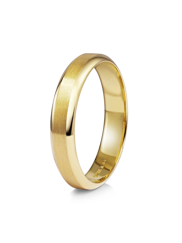 Chamfered Edge Wedding Band - Matte - Rachel Boston Jewellery