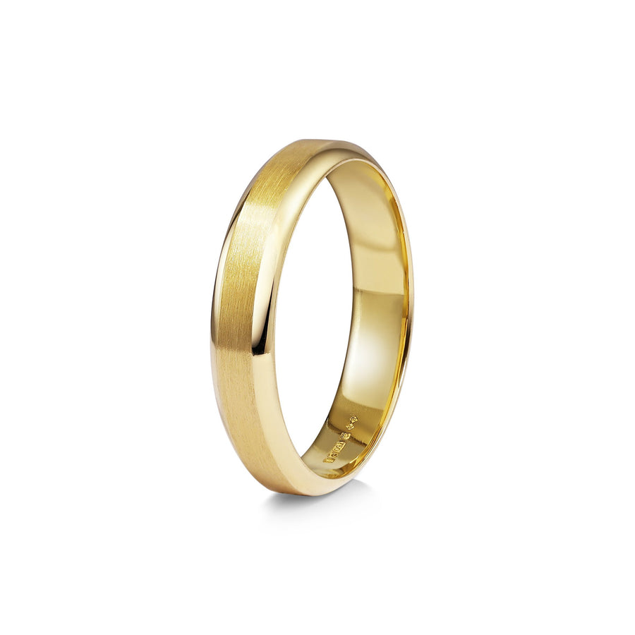 Chamfered Edge Wedding Band - Matte