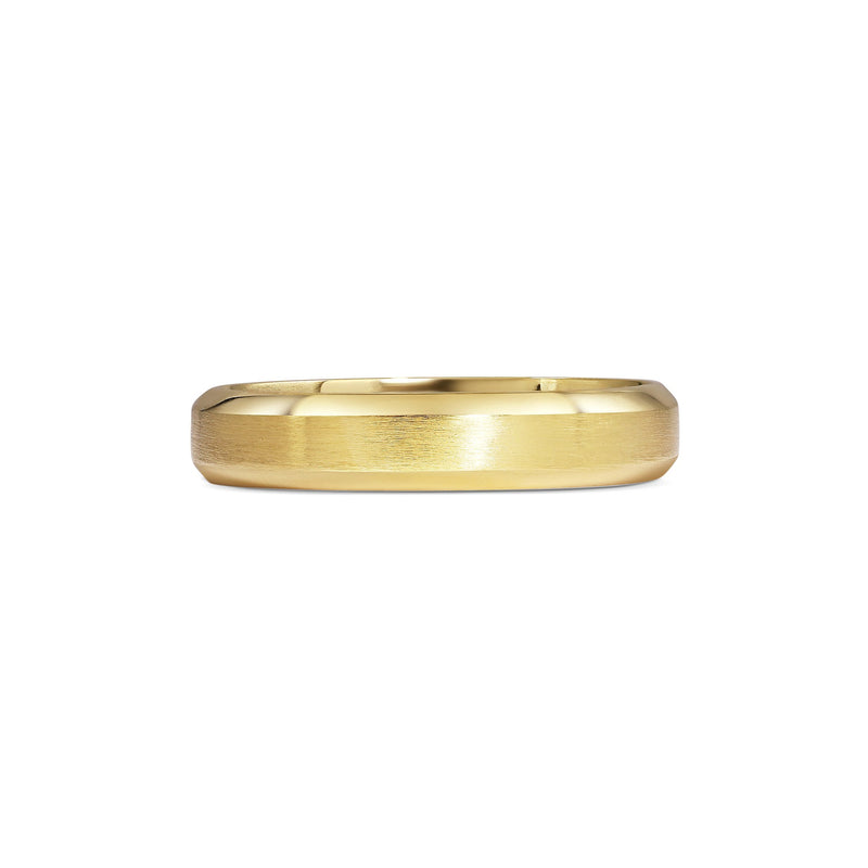 CHAMFERED EDGE WEDDING BAND - MATT