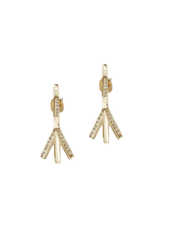 Algiz Earrings - Rachel Boston Jewellery