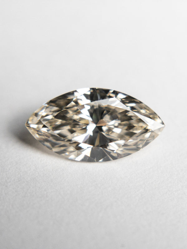 1.10ct 10.40x5.57x3.23mm Champagne Marquise Brilliant 18549-01 - Rachel Boston Jewellery