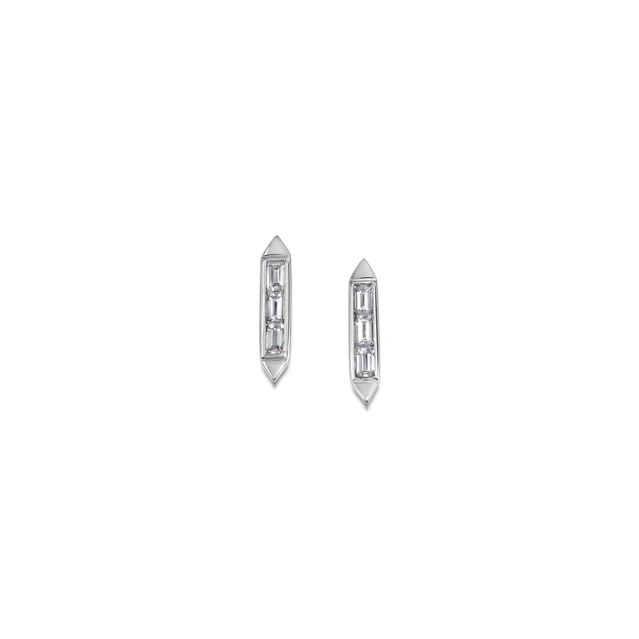 Trio Baguette Deco Earrings