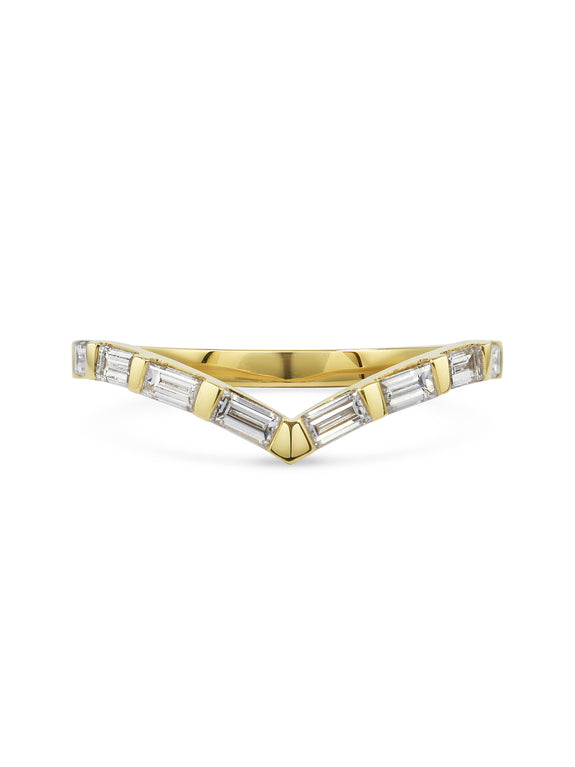 Baguette V Shape Wedding Band - Rachel Boston Jewellery
