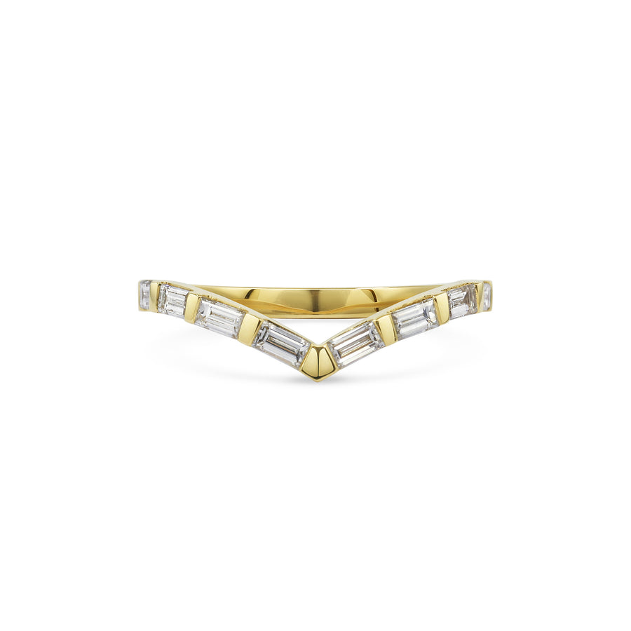 Baguette V Shape Wedding Band