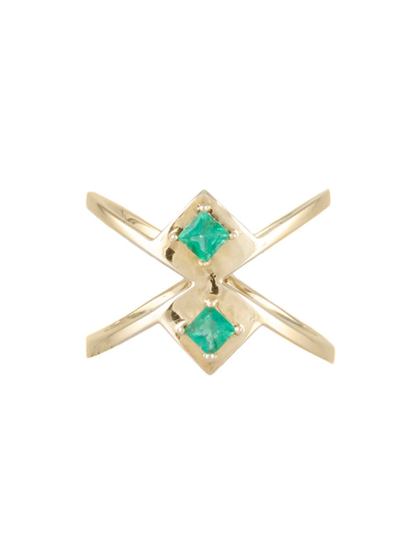 Gar Emerald Ring - Rachel Boston Jewellery