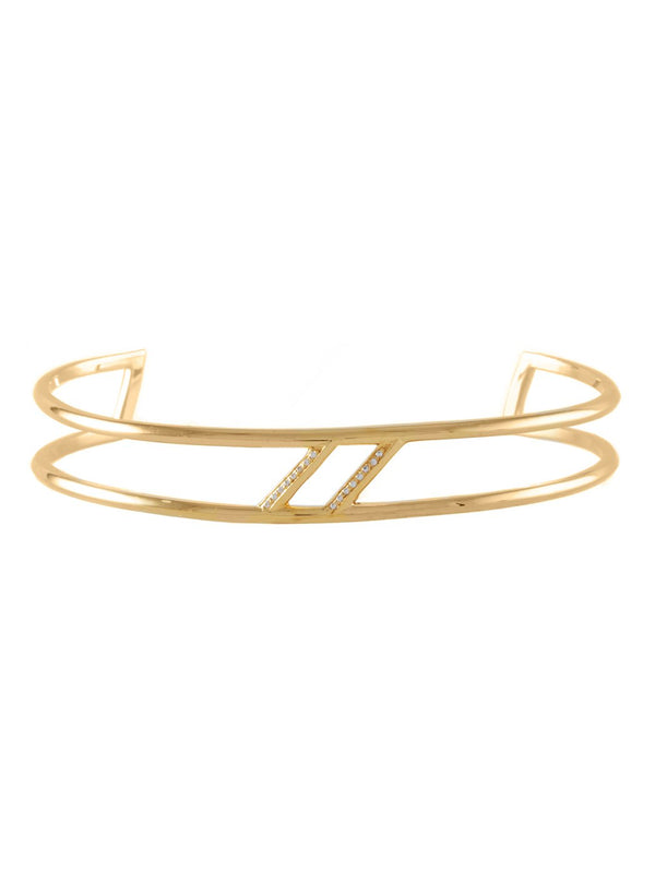 Hagalaz Cuff - Rachel Boston Jewellery