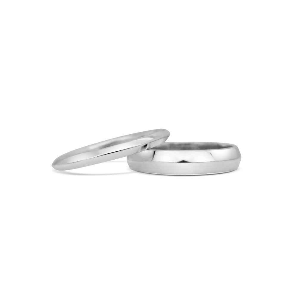 KNIFE EDGE WEDDING BAND - WIDE