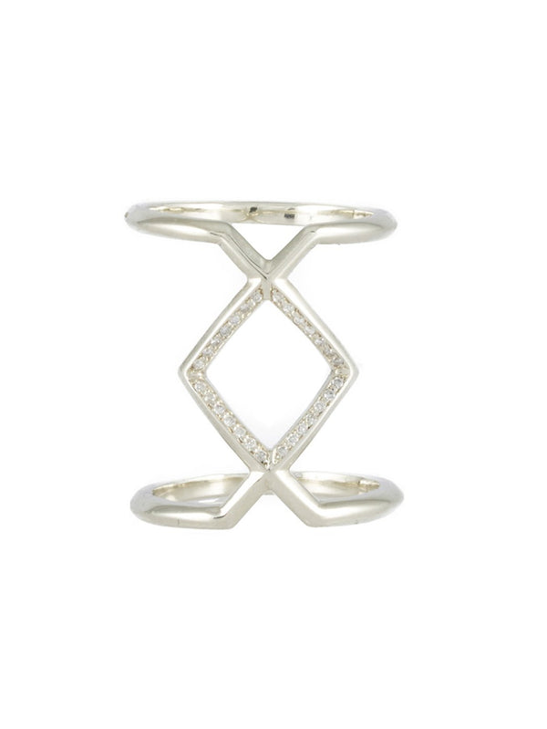Ingwaz Diamond Ring - Rachel Boston Jewellery