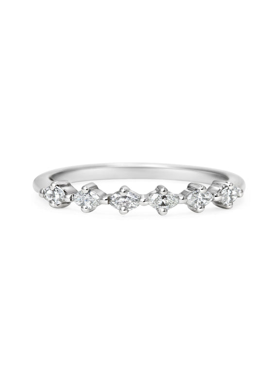 Marquise Diamond Wedding Band - Rachel Boston Jewellery