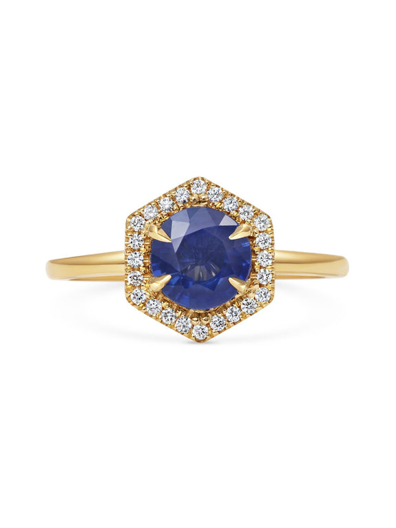 X - Phoenix Sapphire Ring - Rachel Boston Jewellery