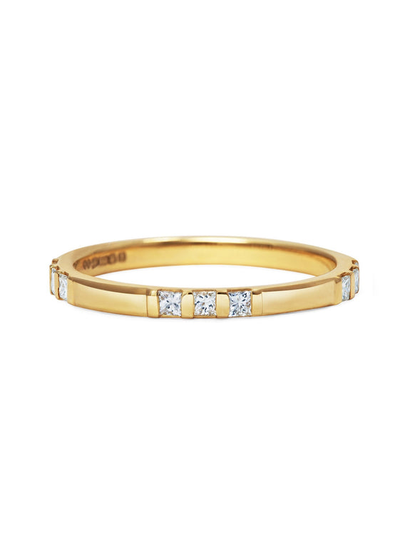 Princess Cut Trio Wedding Band - Rachel Boston Jewellery