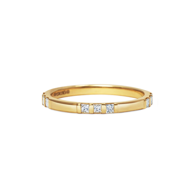 Princess Cut Trio Wedding Band