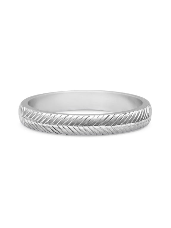 Engraved Chevron Band - 3mm - Rachel Boston Jewellery