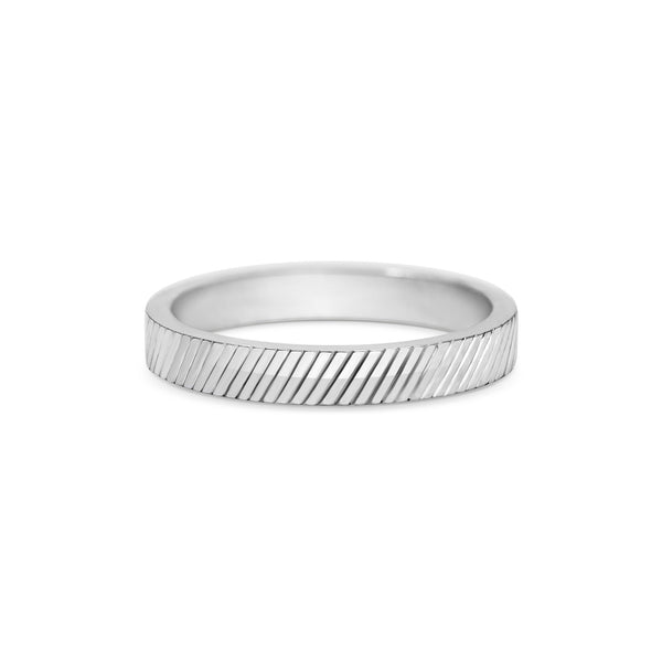 Engraved Diagonal Band - 3MM