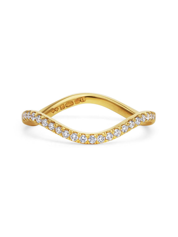 Diamond Wave Band - Rachel Boston Jewellery