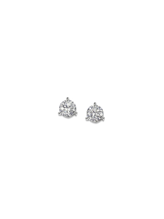 3mm Round Diamond Studs - Rachel Boston Jewellery