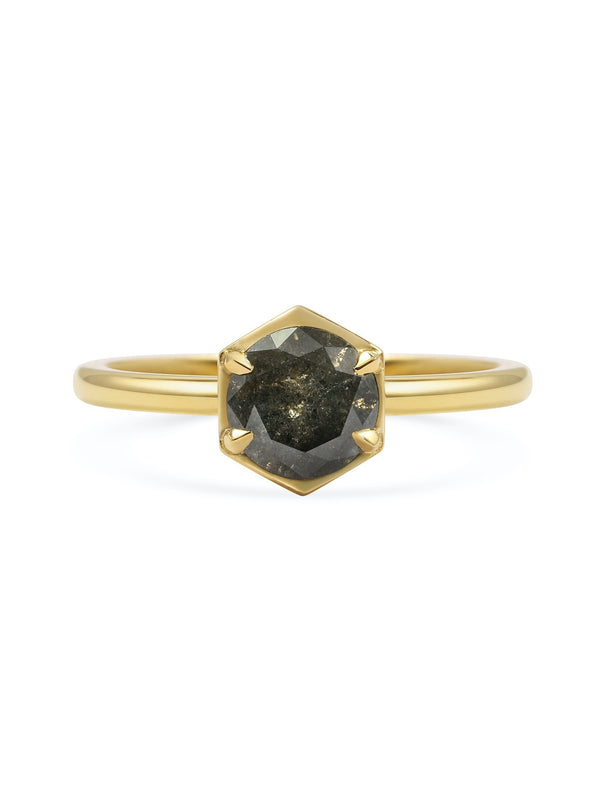 X - Aquila - Dark Grey Ring - Rachel Boston Jewellery