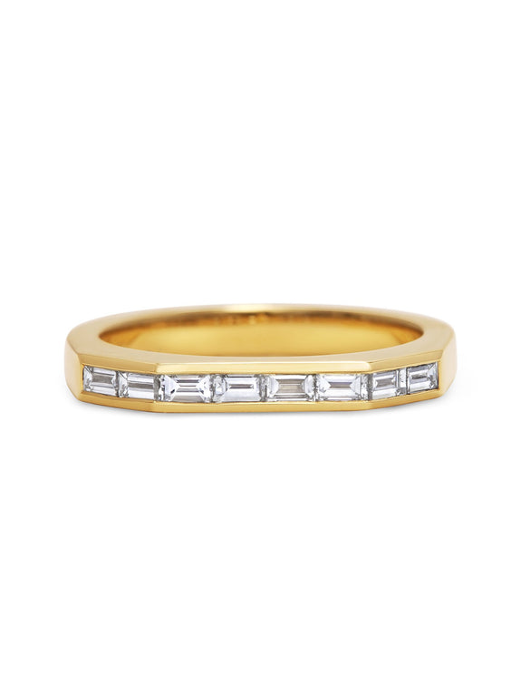 Baguette Deco Wedding Band - Rachel Boston Jewellery