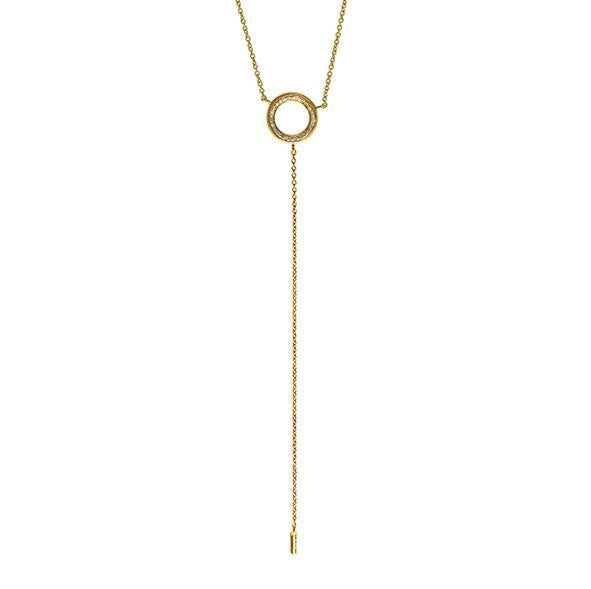CIRCULUS LARIAT NECKLACE