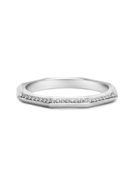 Octagon Knife Edge Wedding Band - Rachel Boston Jewellery
