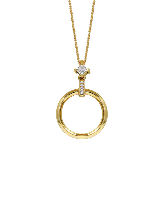 Diamond Hoop Necklace - Rachel Boston Jewellery