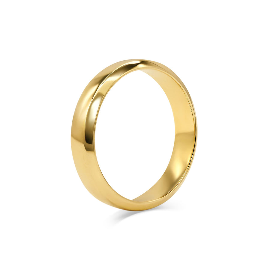Chamfered Edge Wedding Band - Wide
