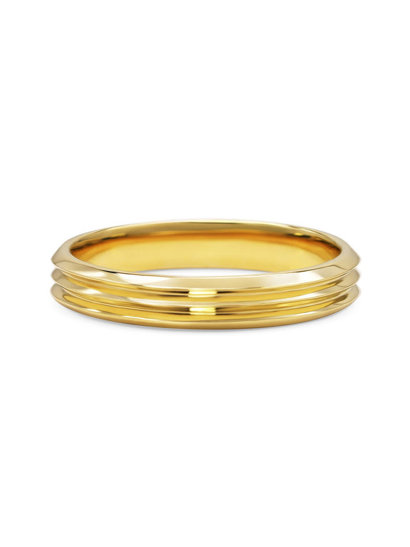 Triple Edge Wedding Band - Rachel Boston Jewellery