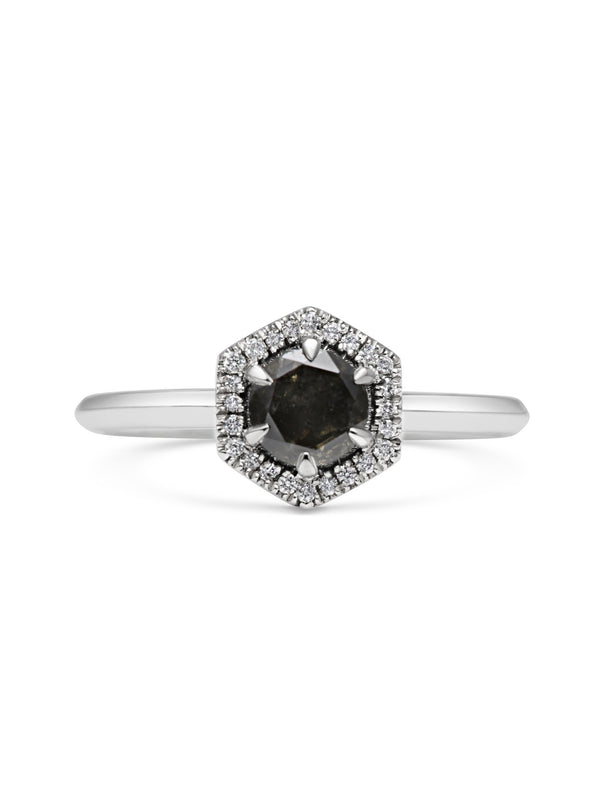 X - Black Diamond Juno Ring - Rachel Boston Jewellery