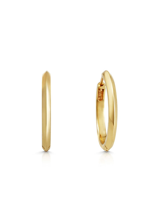 Knife Edge Hoop Earrings - Rachel Boston Jewellery