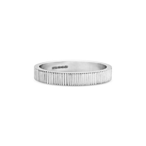 Engraved Lines Wedding Band - 3MM