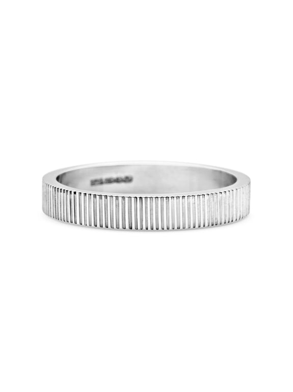 Engraved Lines Wedding Band - 3mm - Rachel Boston Jewellery