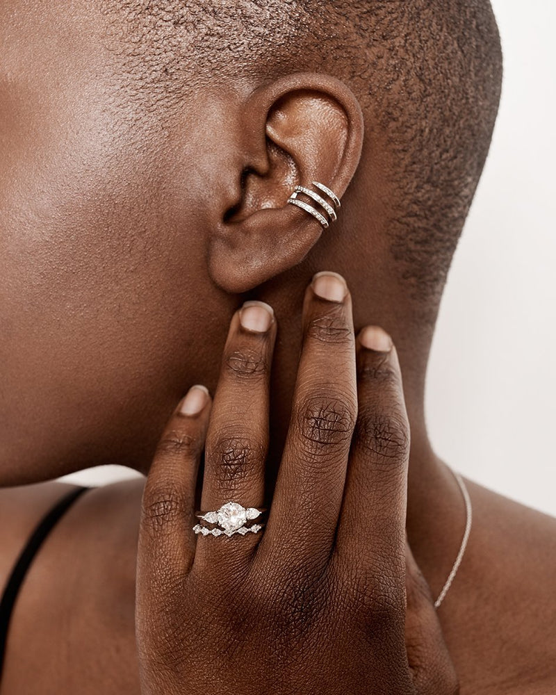 ANCEPS DIAMOND EAR CUFF