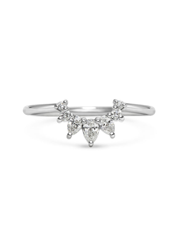 Comet Hale Bopp Wedding Band - Rachel Boston Jewellery