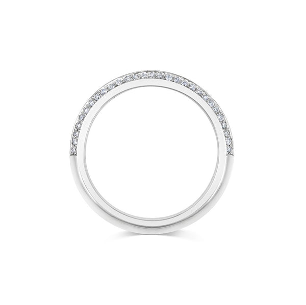 DIAMOND KNIFE EDGE WEDDING BAND - THIN