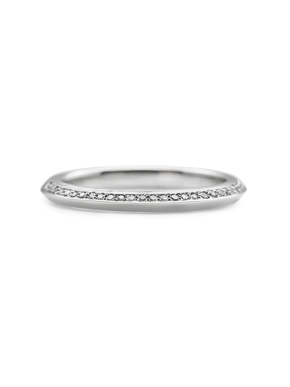 Diamond Knife Edge Band - Thin - Rachel Boston Jewellery