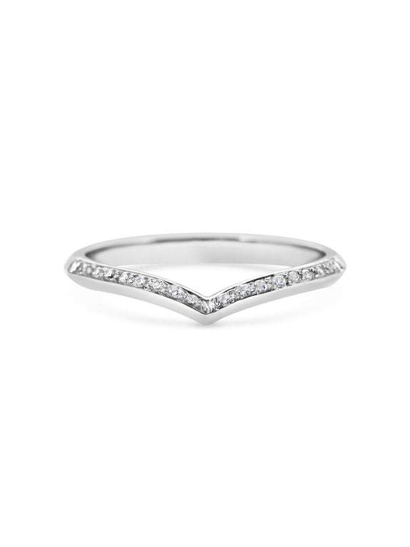 Single Sagitta Diamond Band - Rachel Boston Jewellery