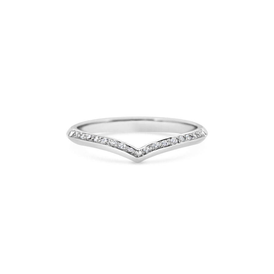 Single Sagitta Diamond Band