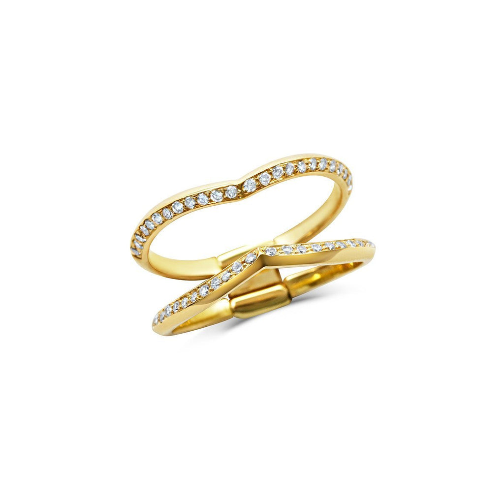 Sagitta Double Wedding Band