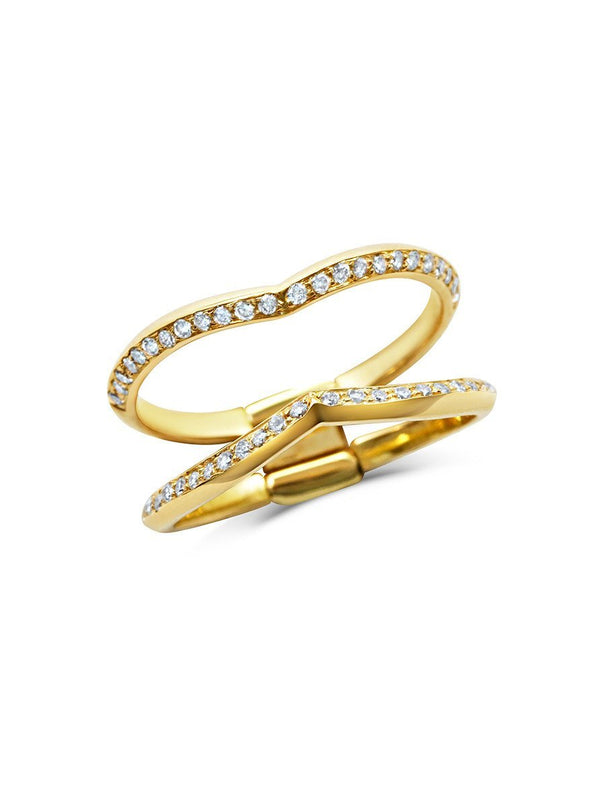 Sagitta Double Wedding Band - Rachel Boston Jewellery