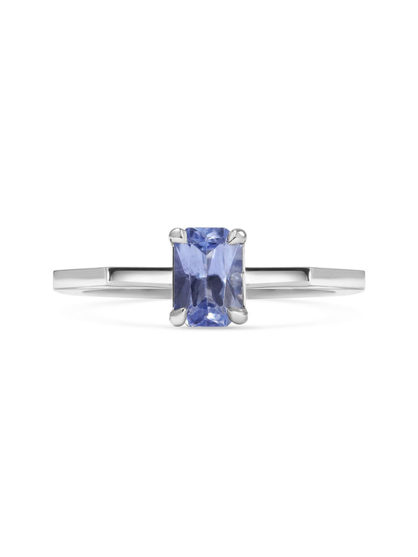 Sapphire Deco Ring - Rachel Boston Jewellery