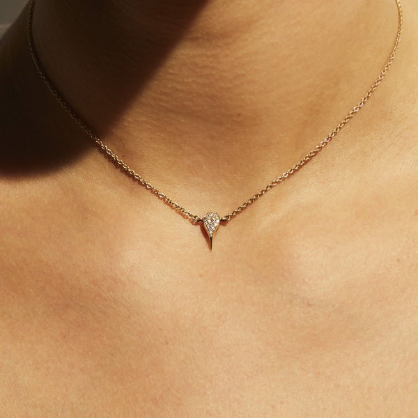 DIAMOND SCORPION STING NECKLACE