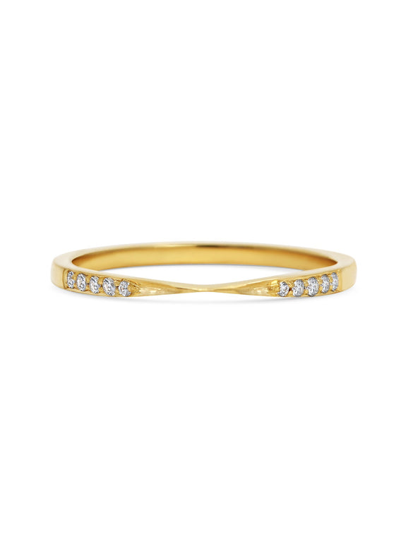 Diamond Union Band - Rachel Boston Jewellery