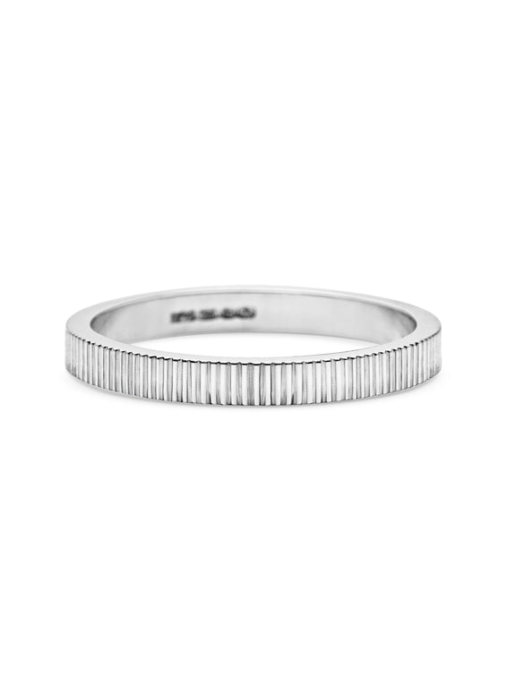Engraved Lines Wedding Band - 2mm - Rachel Boston Jewellery