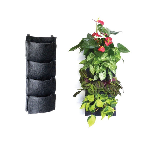 Vertical Indoor Garden Vertical indoor garden planters indoorherbkits florafelt vertical wall garden 4 pockets workwithnaturefo