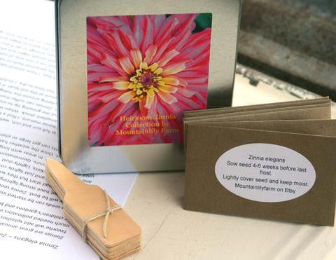 Heirloom Zinnia Collection - Seed & Starter Kit